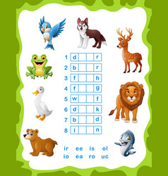 Find the correct part of words vector