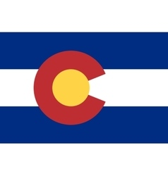 Flag of colorado in correct proportions and colors vector