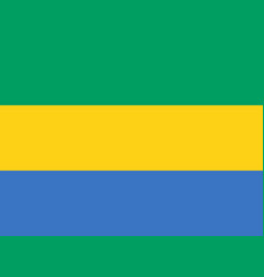 flag of gabon official colors and proportions vector image