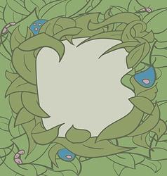 flora frame3 01 vector image