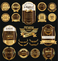 golden sale labels retro vintage design collection vector image vector image