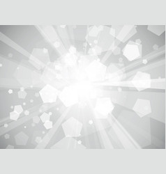 gray geometric rays background vector image