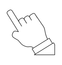 Hand touching something vector