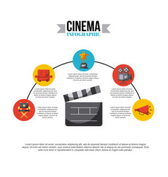 inphografic cinema and movies vector image