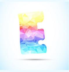 letter e logo icon vector image