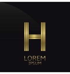 Letter H symbol vector