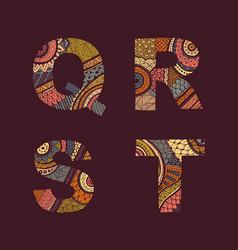 letters set q-t vector image