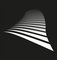 Lines on black background vector