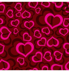 love hearts seamless red pattern eps10 vector image