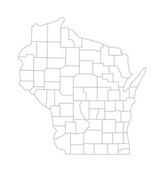 Map, Of, Wisconsin & Counties Vector Images (53)