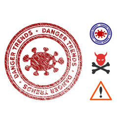 microbe danger trends seal with dust style vector image