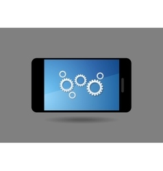 Mobile smartphone and global social communication vector image