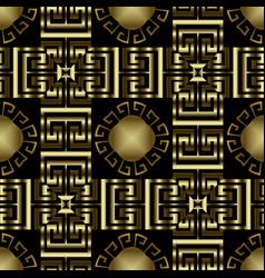 modern checkered ornate greek seamless pattern vector image