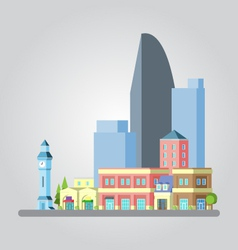 Modern flat design cityscape vector