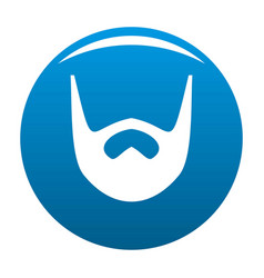 Neat beard icon blue vector