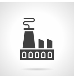 Nuclear power plant glyph style icon vector