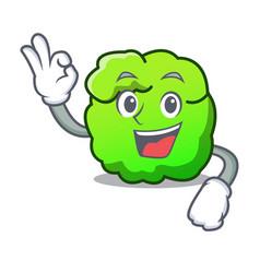 Okay shrub character cartoon style vector