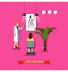 optometrist checking vector image