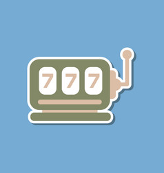 paper sticker on stylish background slot machine vector image