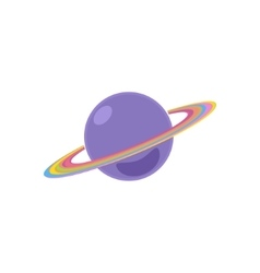 Planet Saturn Isolated on White vector image