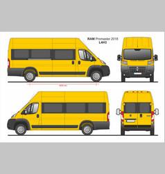 Ram promaster passenger van l4h3 2018 vector