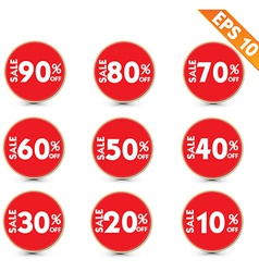 Sale stitch sticker price tag - - EPS10 vector image