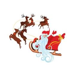 Santa in Sleigh2 vector image