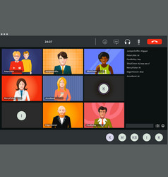 screen video conference modern software vector image
