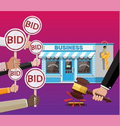Selling or buying business on auction vector