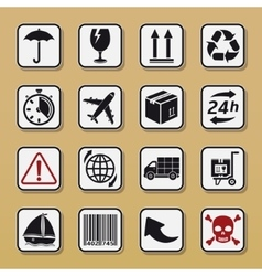Set of packaging symbols vector image