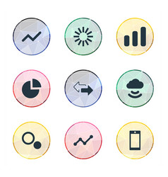 Set of simple analysis icons elements graphic vector