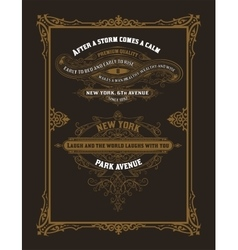 Set of vintage labels Elements by layers vector image
