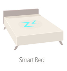 smart bed icon cartoon style vector image