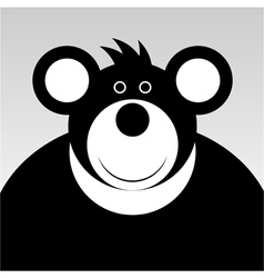 Smiling cartoon bear vector