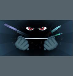spy horizontal banner fear cartoon style vector image