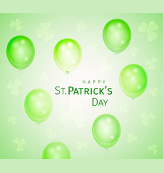 st patricks greeting card vector image