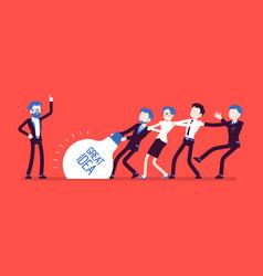 Team uprising great idea vector