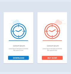 Time timer compass machine blue and red download vector