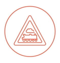 Train sign line icon vector image