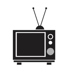 Tv vintage antenna receivng signal vector