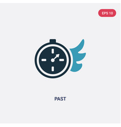 Two color past icon from user interface concept vector