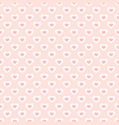 valentines day background with small hearts vector image