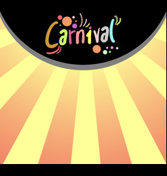 wallpaper carnival vector image