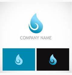 water drop curl bio logo vector image
