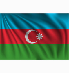 Waving azerbaijan vector
