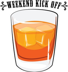 Weekend kick off vector