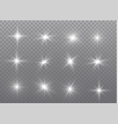 White sparks glitter special light effect vector