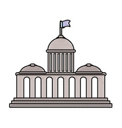 capitol vector image