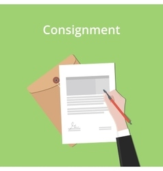 consignment concept a business man vector image vector image