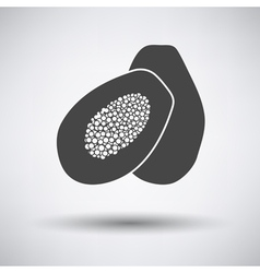 Papaya icon on gray background vector